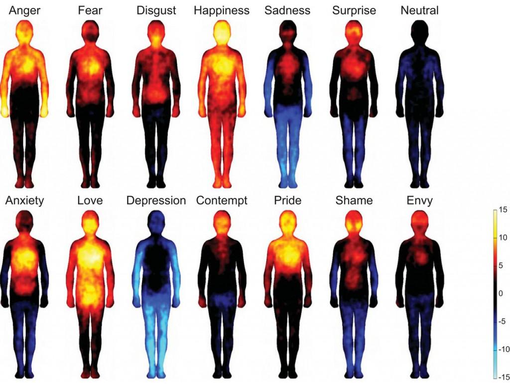 الخرائط الجسدية للحالات النفسية